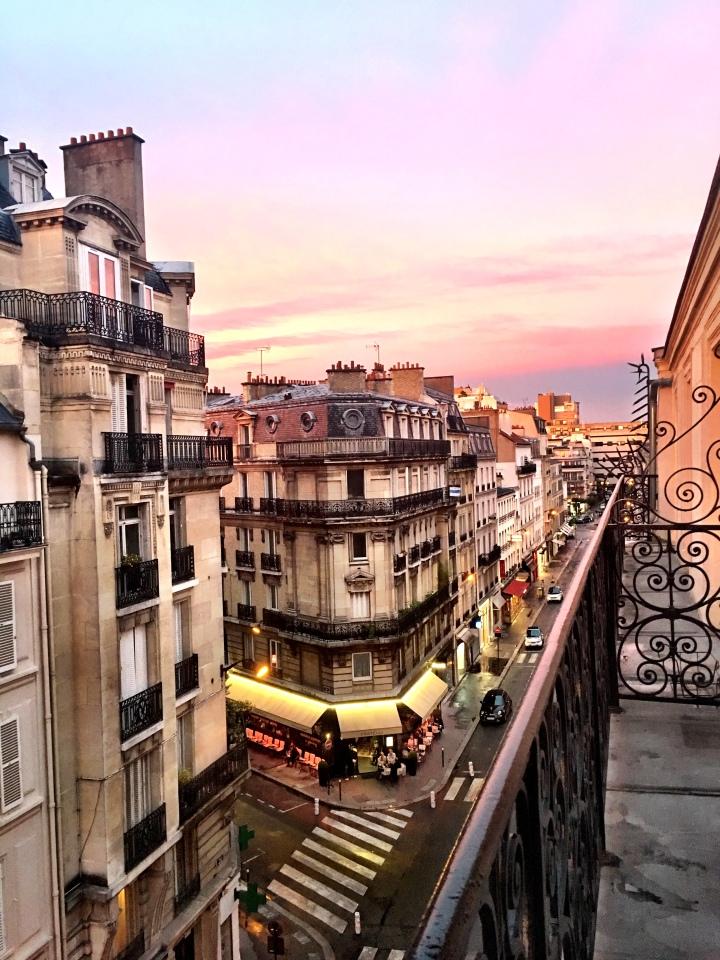 Neuilly-sur-Seine, France sunset