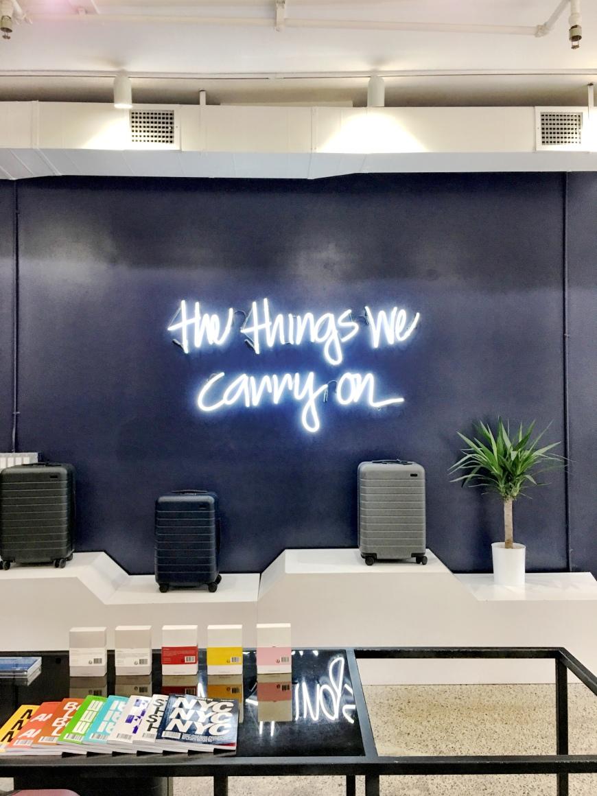 AWAY luggage store New York City