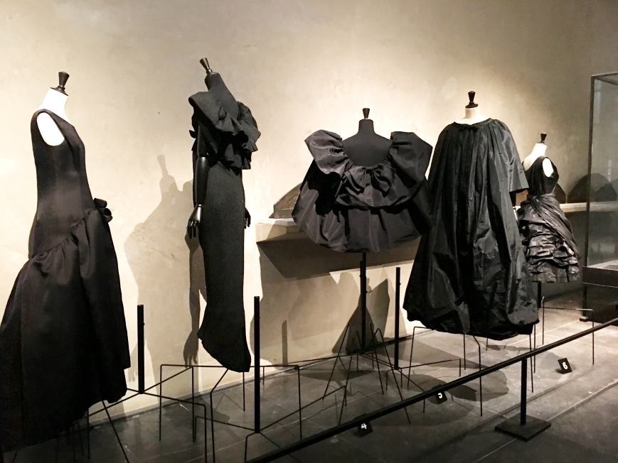 Balenciaga L'oeuvre noir fashion exhibit at Musee Bourdelle