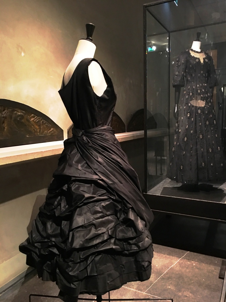 Dress at Balenciaga L'oeuvre noir fashion exhibit
