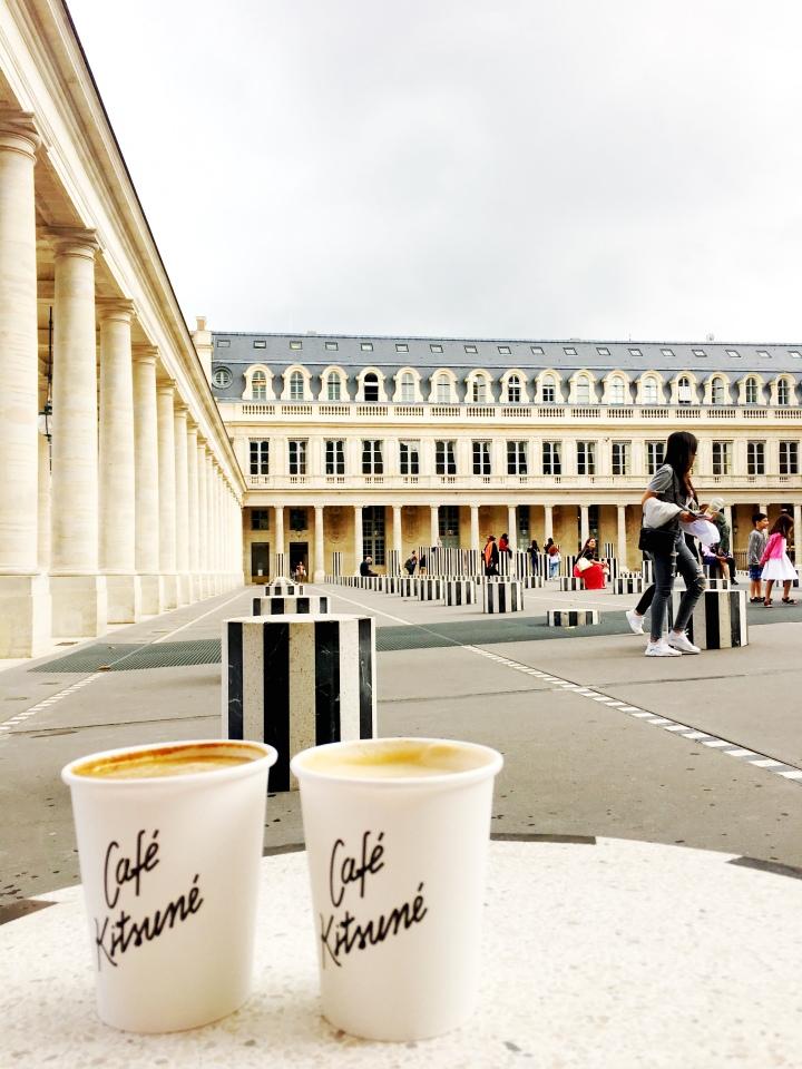 Cafe Kitsune coffee at Palais Royal