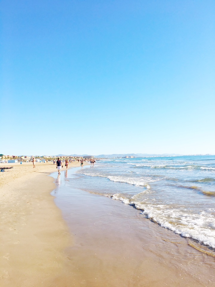 Playa Malvarrosa in Valencia, Spain
