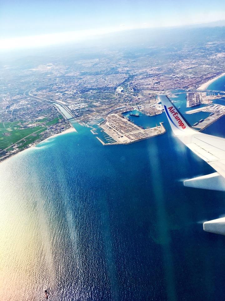 Valencia Spain aerial view