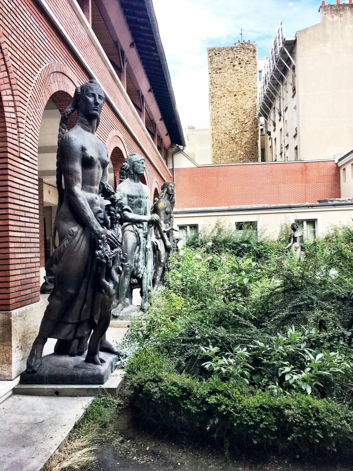 Musee Bourdelle gardens in Montparnasse