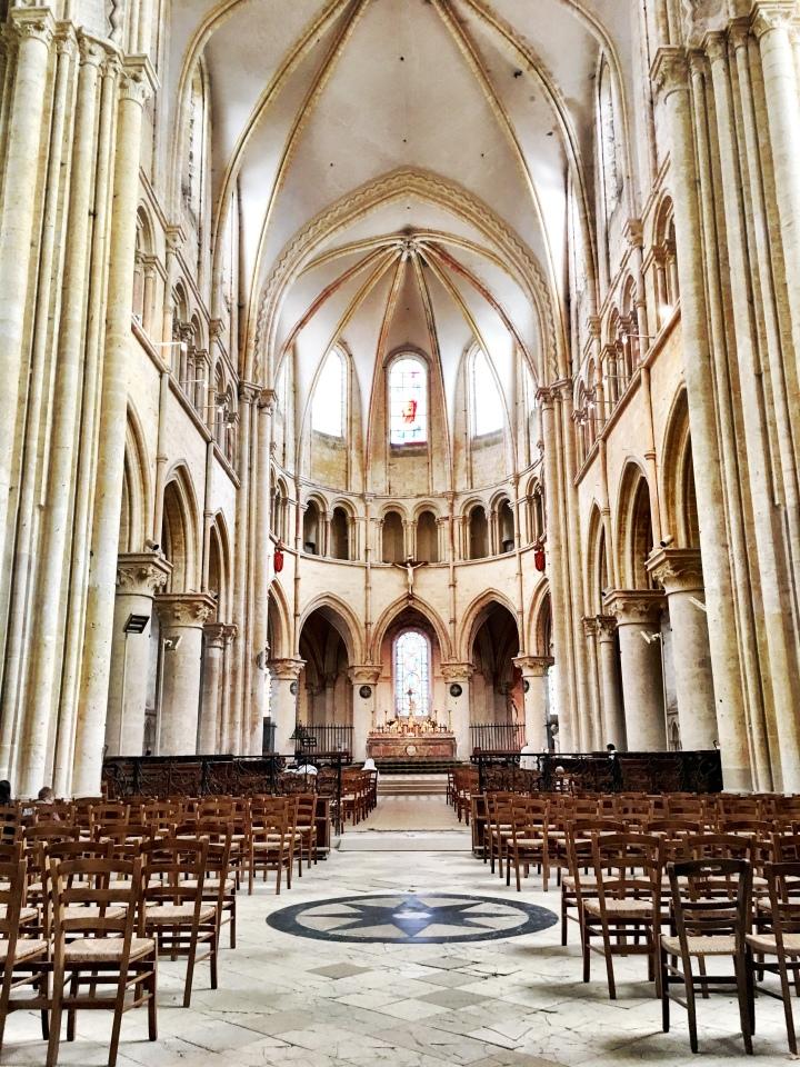 Saint-Quiriace Collegiate Church interior Provins France