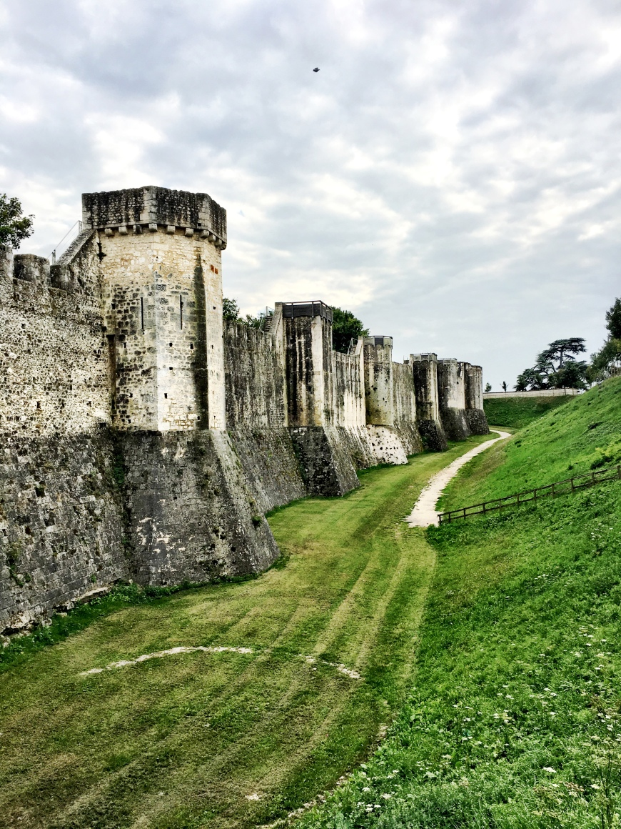 medieval ramparts in Provins, France