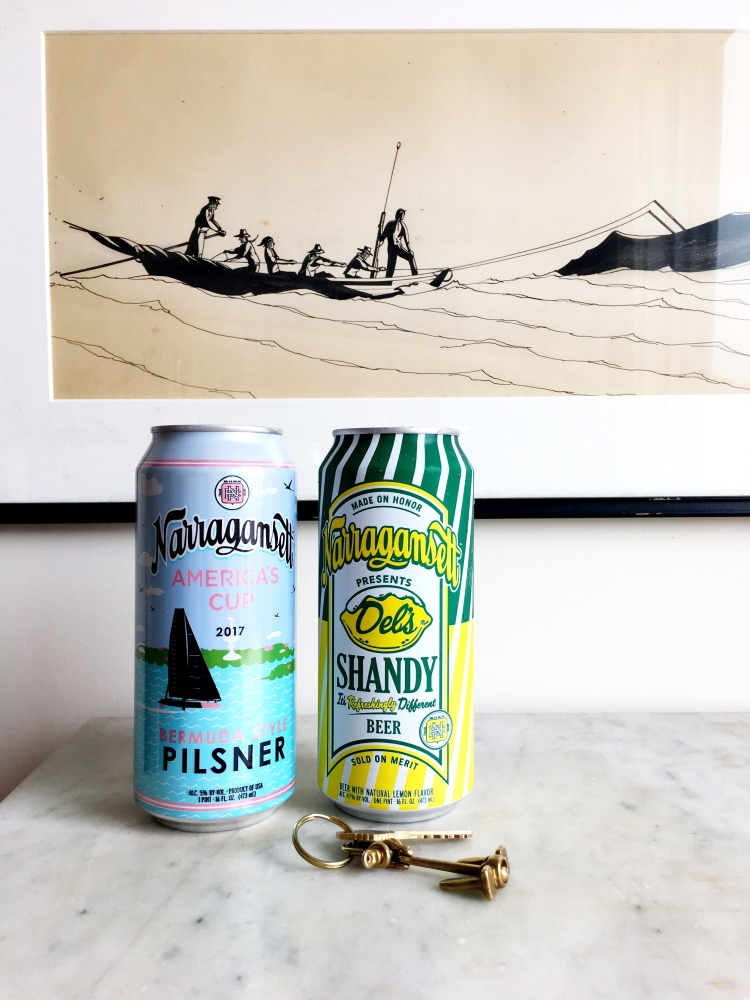 Narragansett Beer Pilsner and Shandy