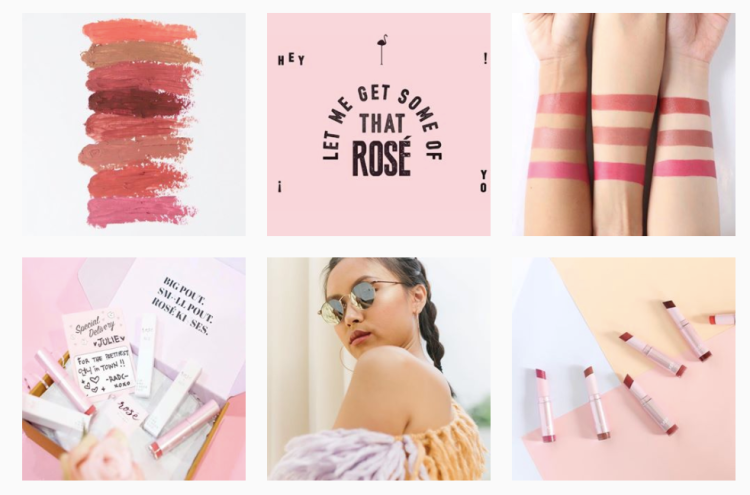 Rose All Day co makeup Instagram