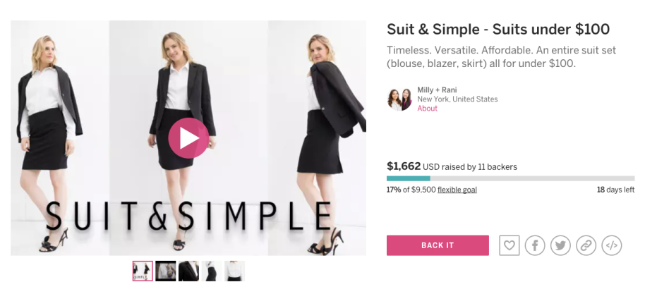 Suit & Simple Indiegogo Campaign