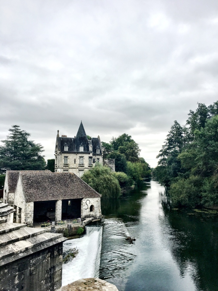 Loing River in Moret-sur-Loing