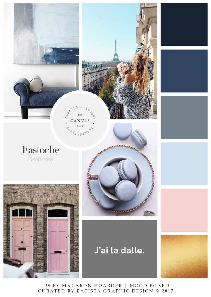 PS by Macaron Hoarder Mood Board x Batista Graphic Design