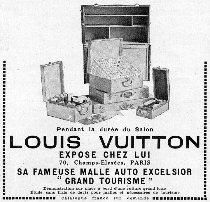 Louis Vuitton Malle Paris vintage ad