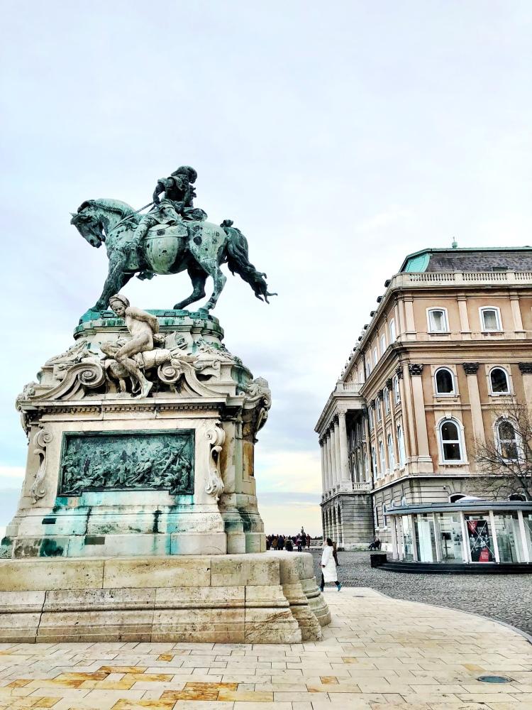 Buda Castle statue Budapest Hungary