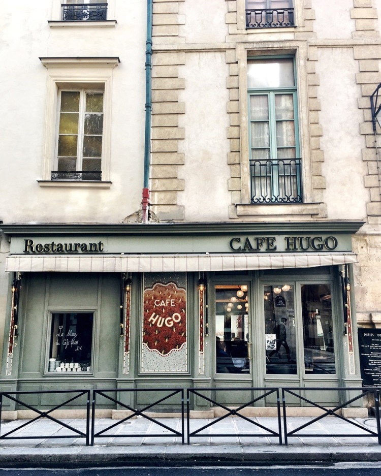 Cafe Hugo Le Marais Paris France