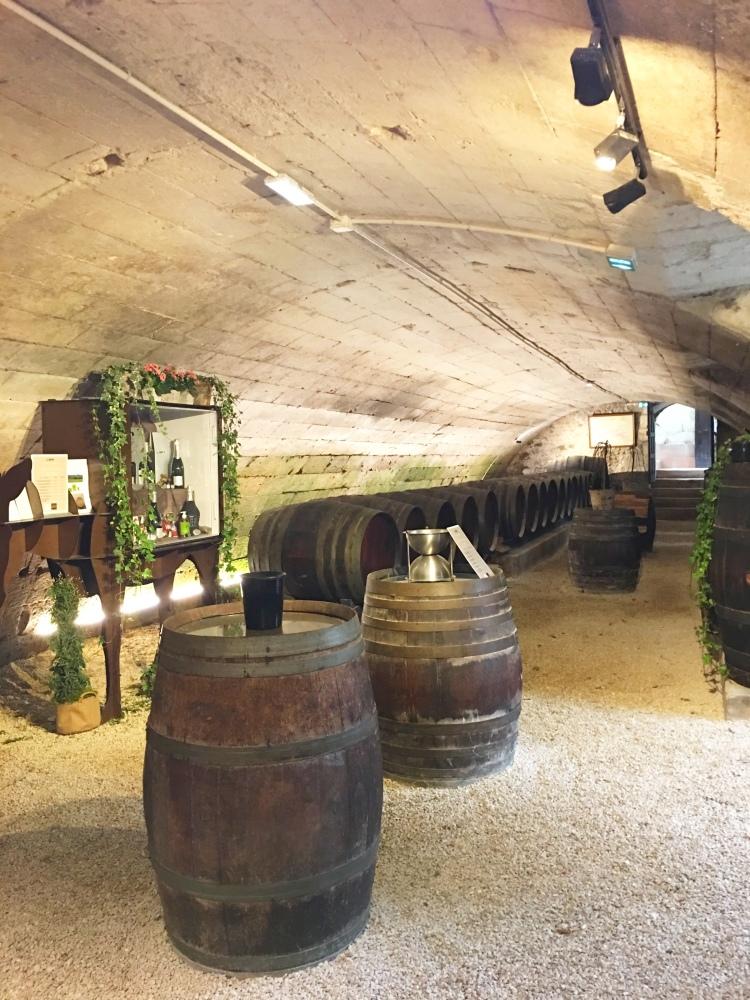 Château de Chenonceau wine cellar
