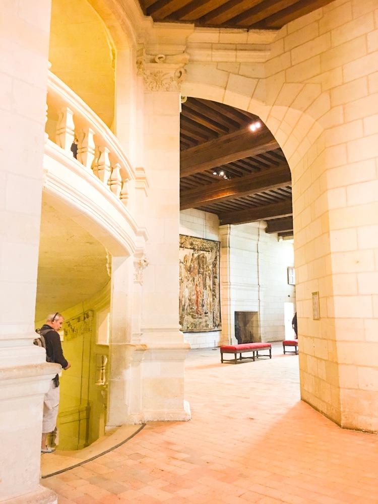 Chateau de Chambord double helix staircase