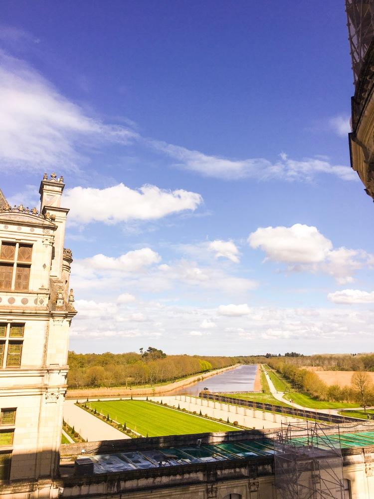 Chateau de Chambord canal view