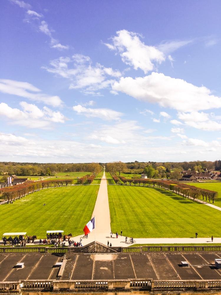 Chateau de Chambord garden view