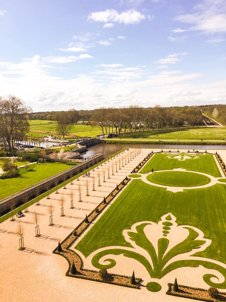 Chateau Chambord gardens
