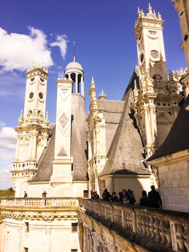 Chateau Chambord exterior with chimneys
