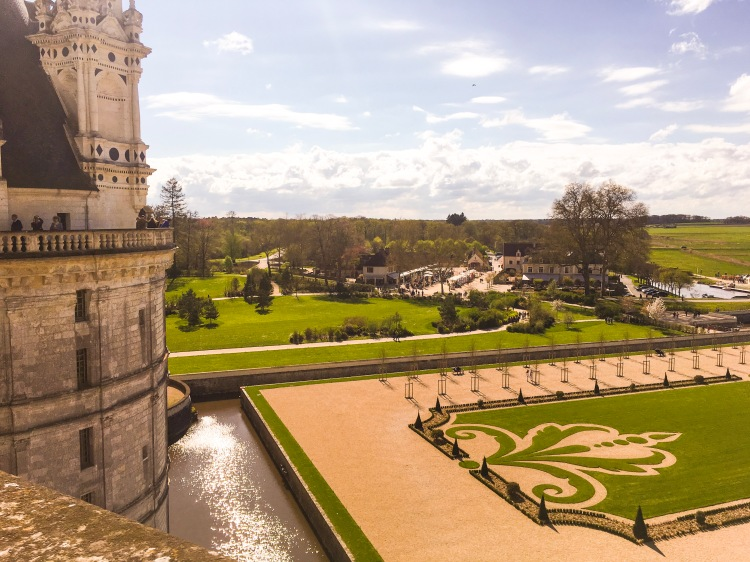 Chateau Chambord garden views