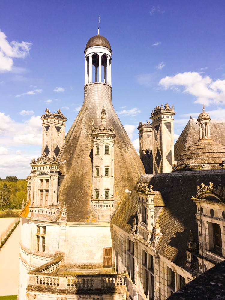 Chateau Chambord chimneys