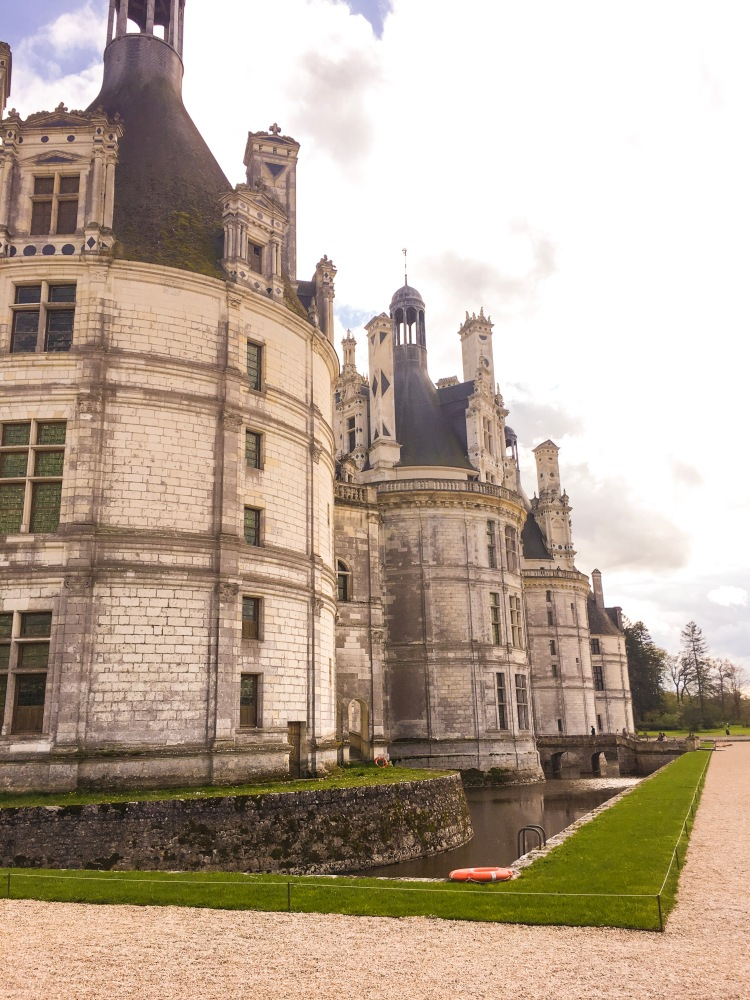 Chateau Chambord moat view