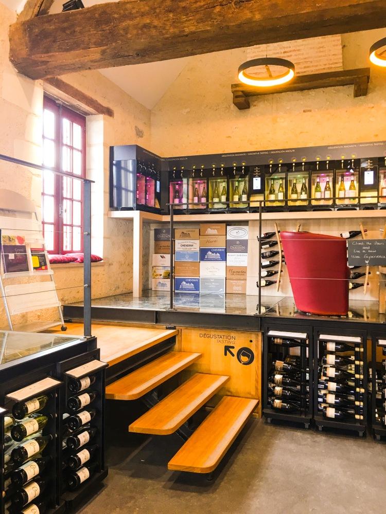 Chateau Chambord cave wine cellar
