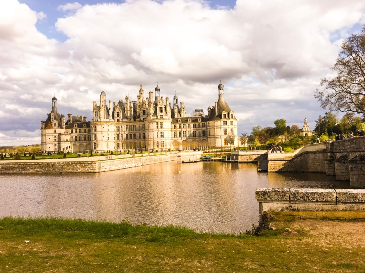Chateau Chambord sunset view horizontal
