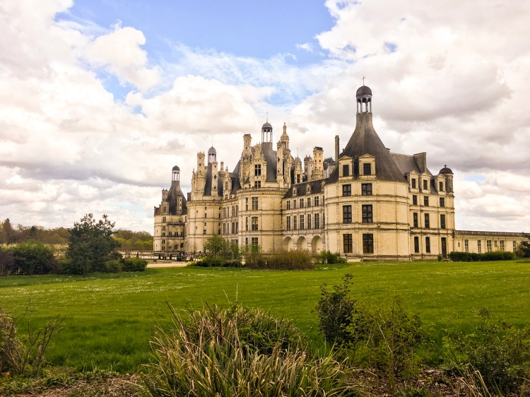 Chateau Chambord view from village