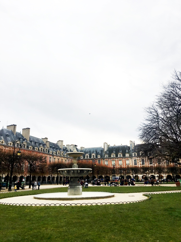 Place des Vosges in Le Marais, Paris, France