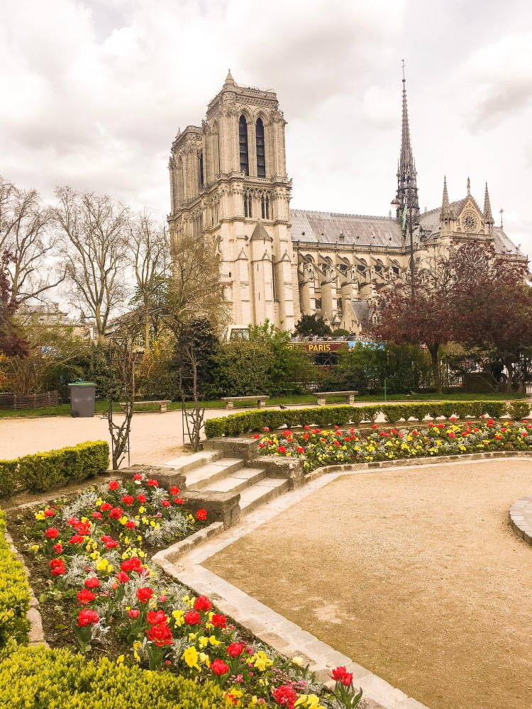 View of Notre Dame in Paris, France