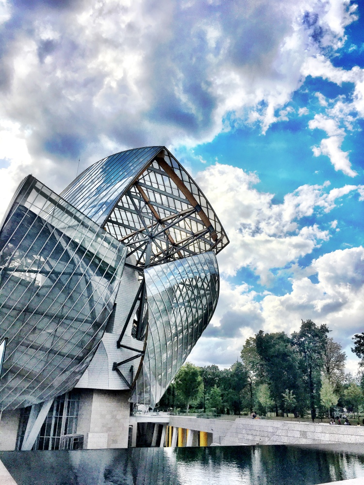 Fondation Louis Vuitton, Bois de Boulogne in Paris, France