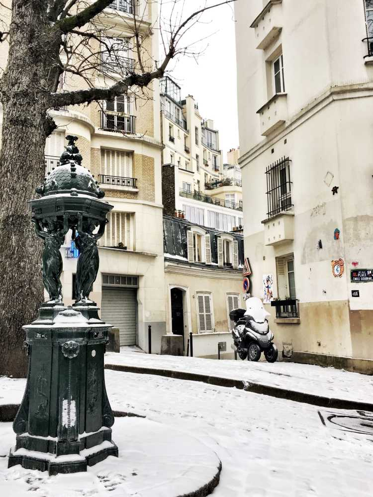 Montmartre Paris in winter