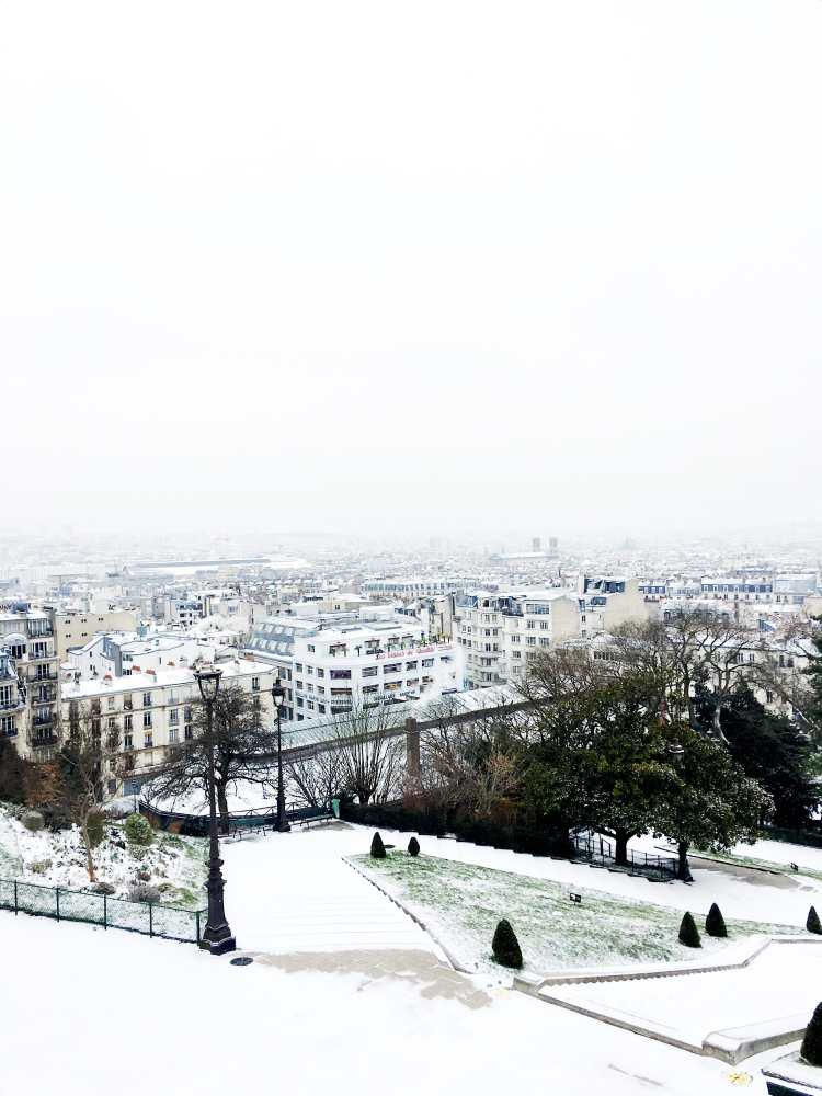 View of Paris from Montmartre winter