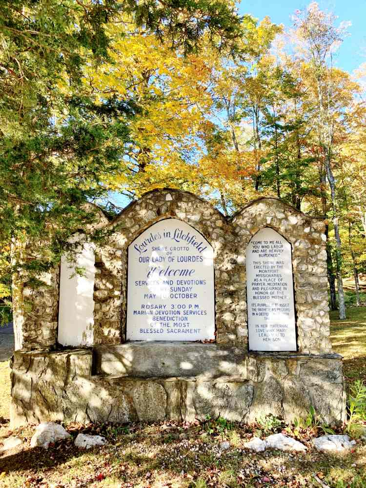Lourdes in Litchfield Shrine Connecticut