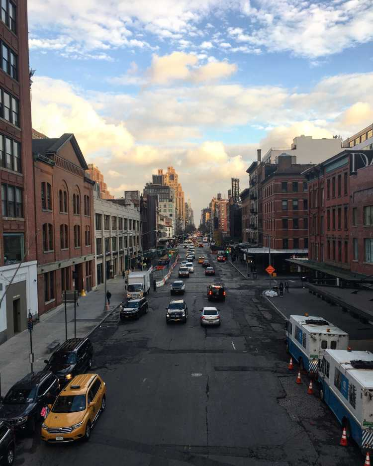 New York City street view from High Line
