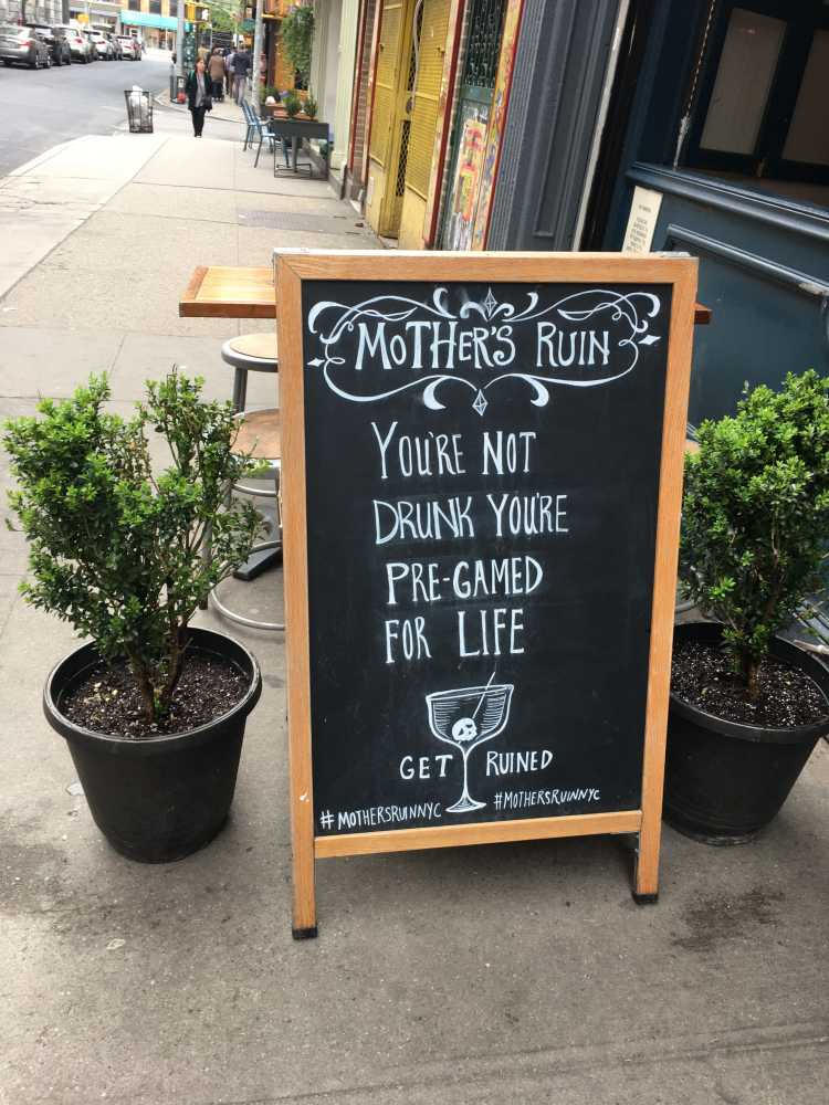 Mother's Ruin NYC