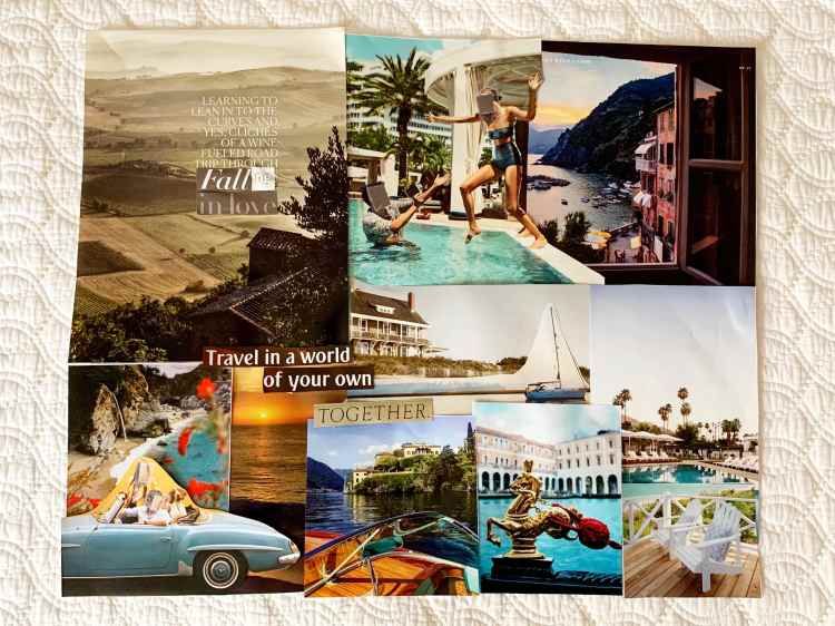Travel vision board example
